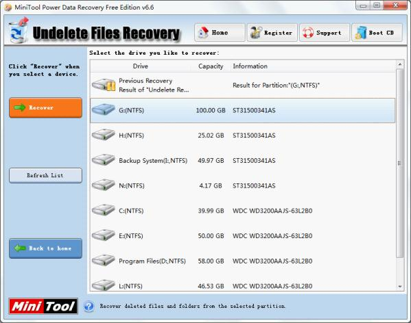 Recover deleted files with the free file recovery software